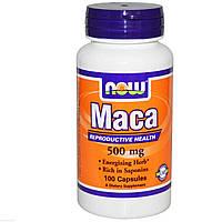 Мака (Maca), Now Foods, 500 мг, 100 капсул