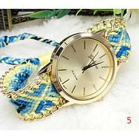Женские часы Geneva с оригинальным ремишком из ниток