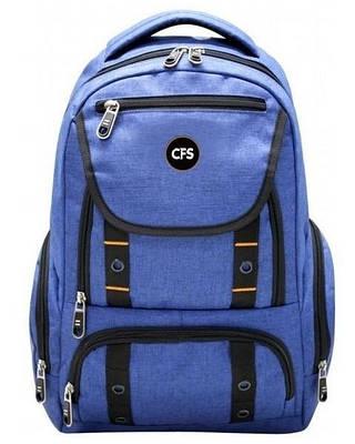 """Функциональный мужской городской рюкзак синего цвета CFS 17"""", Functional CF85685"""