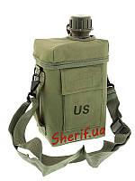 Фляга армейская 2 литра с чехлом и ремнем MIL-TEC Patrol Olive 14514001