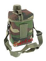 Фляга армейская 2 литра с чехлом и ремнем Woodland  MIL-TEC Patrol 14514020