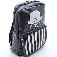 Оригинальный черный рюкзак. Стильный и практичный рюкзак. Унисекс. Высокое качество. Купить онлайн Код: КДН308