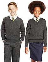 Джемпер школьный 100% шерсть мериноса  Marks&Spencer (Aнглия)