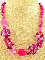Бусы из розового агата