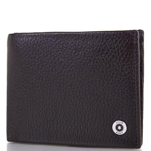 Кожаный черный мужской кошелек с зажимом для купюр KARYA (КАРИЯ) SHI0945-2FL