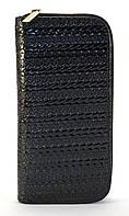 Черный горизонтальный женский кошелек-клатч на молнии Б/Н art. 01