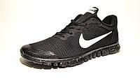 Кроссовки мужские  Nike Free Run 3.0 сетка, черные в белую точку(найк фри ран)р.40