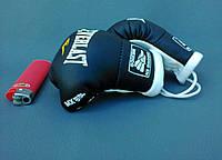 Мини перчатки боксерские для авто сувенир брелок ЧЕРНЫЕ Everlast