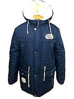 Куртка зимняя с капюшоном на мальчика парка 3304