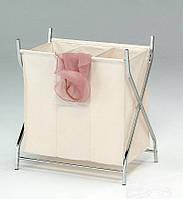 Корзина для белья Onder Metal с тканевым мешком.