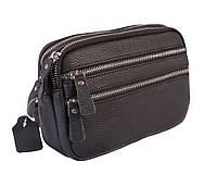 Мужская кожаная черная сумка для документов