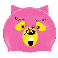 Детская шапочка для плавания BECO розовый мишка 7394 4