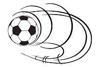 Наклейка виниловая Футбольный мяч 3D декор