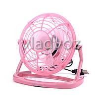 Вентилятор USB для ноутбука или в авто розовый 816