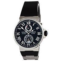 Мужские часы Ulysse Nardin Le Lelocle -  серебристые с черным, AAA