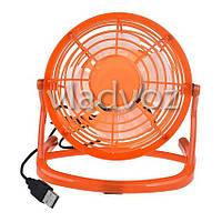 Вентилятор USB для ноутбука или в авто оранжевый 816