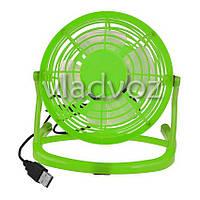 Вентилятор USB для ноутбука или в авто салатовый 816