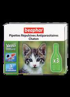 Beaphar Bio 3 пипетки-капли от блох, клещей и комаров для котят(15615)