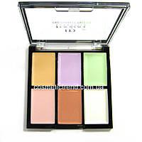 Палитра корректоров (консиллеров) для макияжа 6 цветов М-476 Pro Correkt Palette Malva Cosmetics
