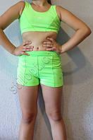 Спортивные шортики для девочек лимонного цвета