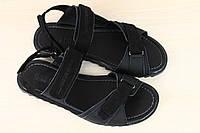 Мужские кожаные сандалии Hilfige Denim, черный
