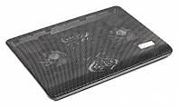 """Охлаждающая подставка под ноутбук Gembird NBS-2F17-01 Black до 17"""" 2x80 мм fan"""