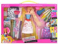 Кукла с набором для покраски волос и одежды