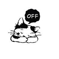 Наклейка виниловая на выключатель Котёнок OFF 3D декор