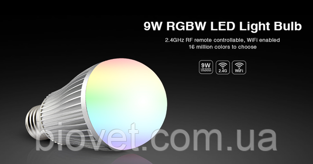 9W RGBW LED Light Bulb MiLight