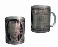 Чашка с нанесением фото серебряная. Печать фото на чашках