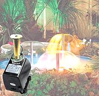 Насос для фонтана с подсветкой и насадкой Грибок 45Вт  2500л/ч