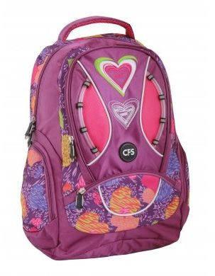 """Ортопедический рюкзак на все случаи жизни для девочек CFS 17"""", """"Sweetheart"""" 830 CF85473 фиолетовый"""