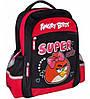 """Интересный школьный рюкзак с рисунком для девочки 6+ CFS 15"""", """"Angry Birds"""" AB03822 черный/красный"""