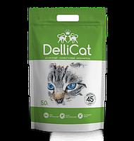 Силикагелевый наполнитель для кошачьих туалетов DelliCat Green 5.0л