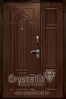 Двери входные металлические полуторные модель Арка улица серия Оптима Плюс