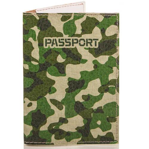 Мужская обложка для паспорта PASSPORTY (ПАСПОРТУ) KRIV085   Зеленая