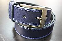 Ремень мужской джинсовый Maybik 40 мм, темно-синий