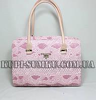Стильная женская каркасная сумка на молнии Прада под код кожу рептилии