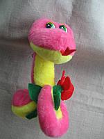 Игрушка подвеска змея мягкая плюшевая высота 13 см. основание 7,5 см. с присоской