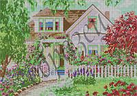 Схема для вышивки бисером Солнечный дом (полная зашивка) КМР 3047
