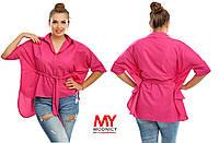 Женская рубашка из турецкого штапеля БАТАЛ