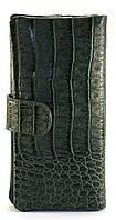 Зеленый горизонтальный женский кошелек под кожу крокодила на кнопке  FUERDANNI art. 5998