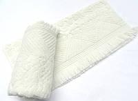 Махровое полотенце 50х90 с бахромой Arya Damask Ayca кремовое