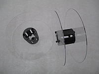 Катушка для мерных материалов : тесьма, ленты, шнуры.  (диаметр 121 мм диаметр катушки 35 мм ширина 37 мм)