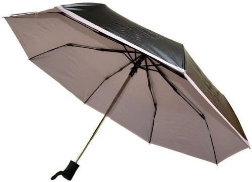 Женский практичный зонт-автомат из нейлона Susino S-30-1,черный