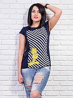Женская футболка с веселым принтом