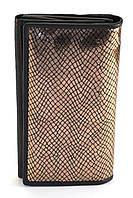 Кожаный, оригинальный и удобный женский кошелек SWAN золотистого цвета art. CH 205-2