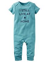 Комбинезон для мальчика Carter's (Картерс) I Still Live At Home Голубой