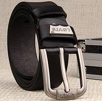 Качественные мужские кожаные ремни LEVIS. Оригинальный дизайн. Стильный ремень. Натуральная кожа. Код: КДН317