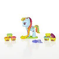 Набор для творчества Плей До стильный салон Рейнбоу Дэш Play-Doh My Little Pony Rainbow Dash